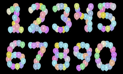 balloons numbers