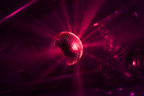 shining discoball / mirrorball in motion poster