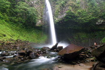 Famous waterfall La Fortuna