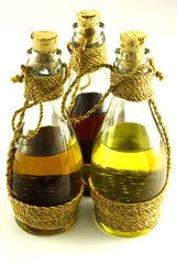 3 bottles with oils