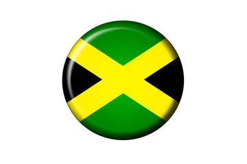 Jamaica Flaggen Knopf