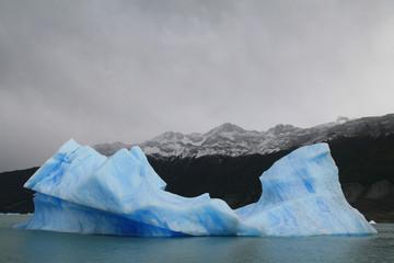 Blue iceberg in Parque Nacional Los Glaciares, Argentina