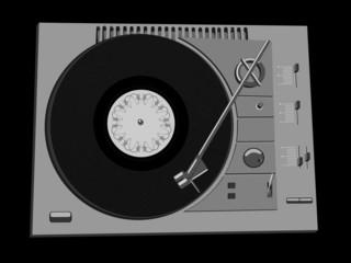 Vinyl DJ's deck