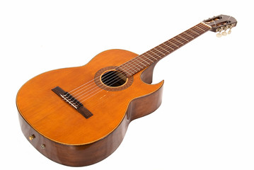 classical guitar with cut body
