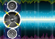 Audio speaker wave background, illustration with layers file