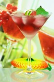 Summer alcoholic recreational drink with mint and lemon poster