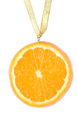 Medal from a juicy orange.