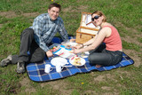 Romantic picnic poster