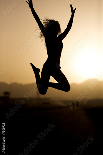 Sunset jumping.