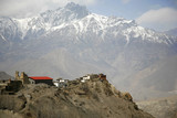 Jharkot village and  mountains from muktinath, annapurna,  poster