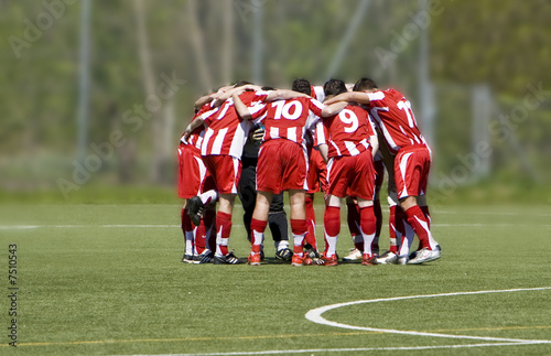 Leinwandbild Motiv Soccerteam