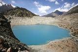 blue mountain lake, manang, annapurna, nepal poster
