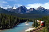 Freight train in Canadian Rockies - 7511181