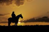 Fototapety Cowboy silhouette