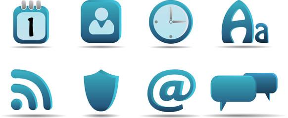 Web icon set 6   Aqua series