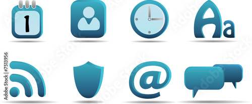 Web icon set 6 | Aqua series