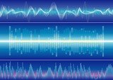 Sound wave background, vector illustration with layers file.