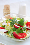 Healthy vegetable salad with low calorie poster