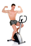 Body Builder, fitness bike