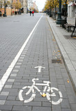 Bicycle route sign poster
