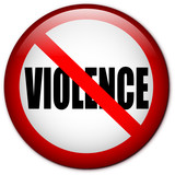 No Violence pin poster