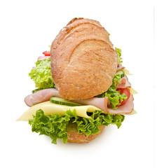 "Extra large 12"" ham & swis submarine sandwich"