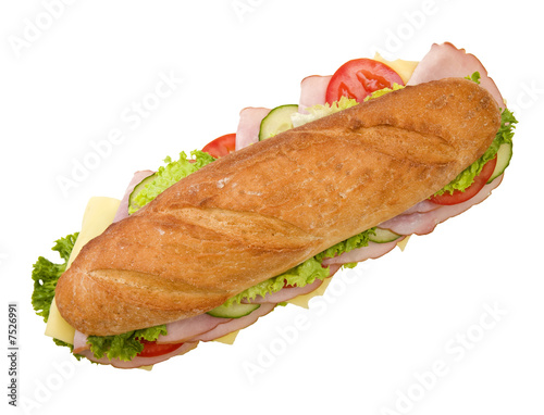Ham & Cheese submarine sandwich