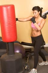 Girl kickboxing workshop