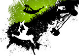 Skateboard abstract background