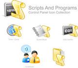 skript a program 2 - ovládací panel sada ikon