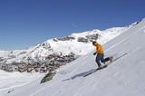 Fototapeta Skifahrer bei Val Thorens in den Savoyer Alpen