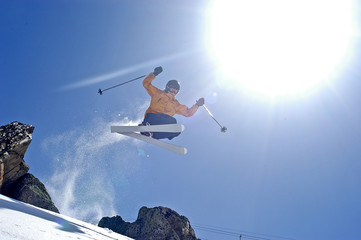 Jump-Session in den Savoyer Alpen