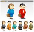 Business People with Briefcase 2 - officio icon set