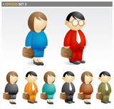 Business People with Briefcase 2 - officio icon set poster