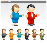 Business People speech - officio icon set poster