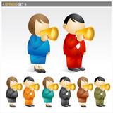 Loudspeaker people - officio icon set poster