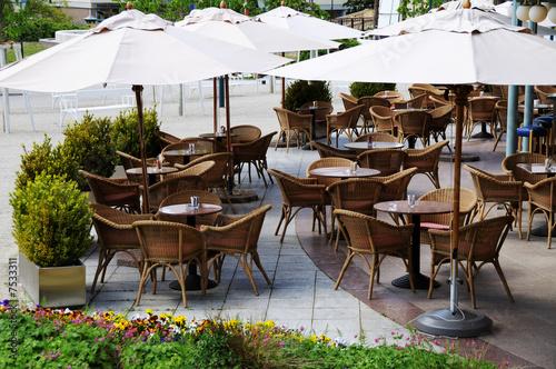 Leinwanddruck Bild Schanigarten