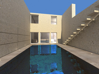 Water pool house - Day light