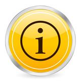 info symbol yellow circle icon poster