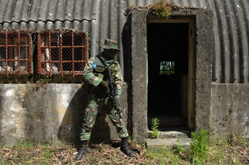 Military training combat - Cleaning urban areas