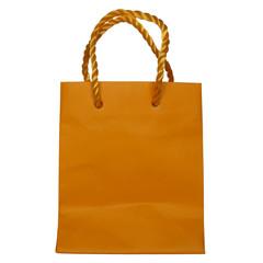 Orange bag purse shopper for shopping or gift