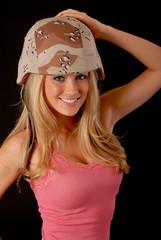 Lovely Blond Army Girl