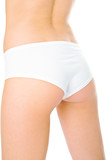 woman back in white pants poster