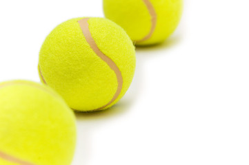 Tennis balls isolated on the white background