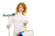 Frau bei der Hausarbeit