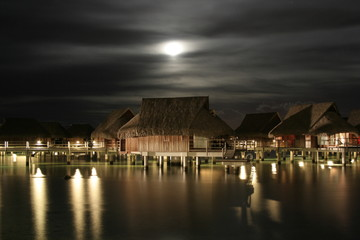 Moonrise over Moorea