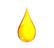 Leinwanddruck Bild - Drop of Gasoline