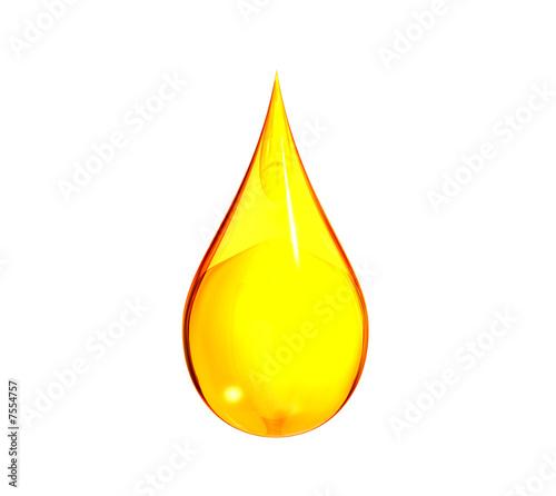Leinwanddruck Bild Drop of Gasoline