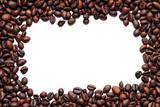 Coffee beans frame on white - 7554959