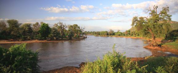 Panoramic view of Ewaso Nyiro River